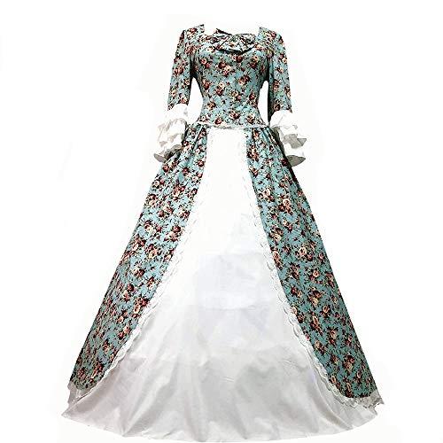 I-Youth Damen Viktorianisches Rokoko-Kleid Civil War Ballkleid Südliche Belle Kostüme - - XX-Large
