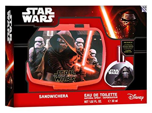Star Wars Geschenk-Set für Kinder (Pflege-Set bestehend aus Eau de Toilette 30ml und Brotdose) mit Kylo Ren- und Stormtrooper-Motiv