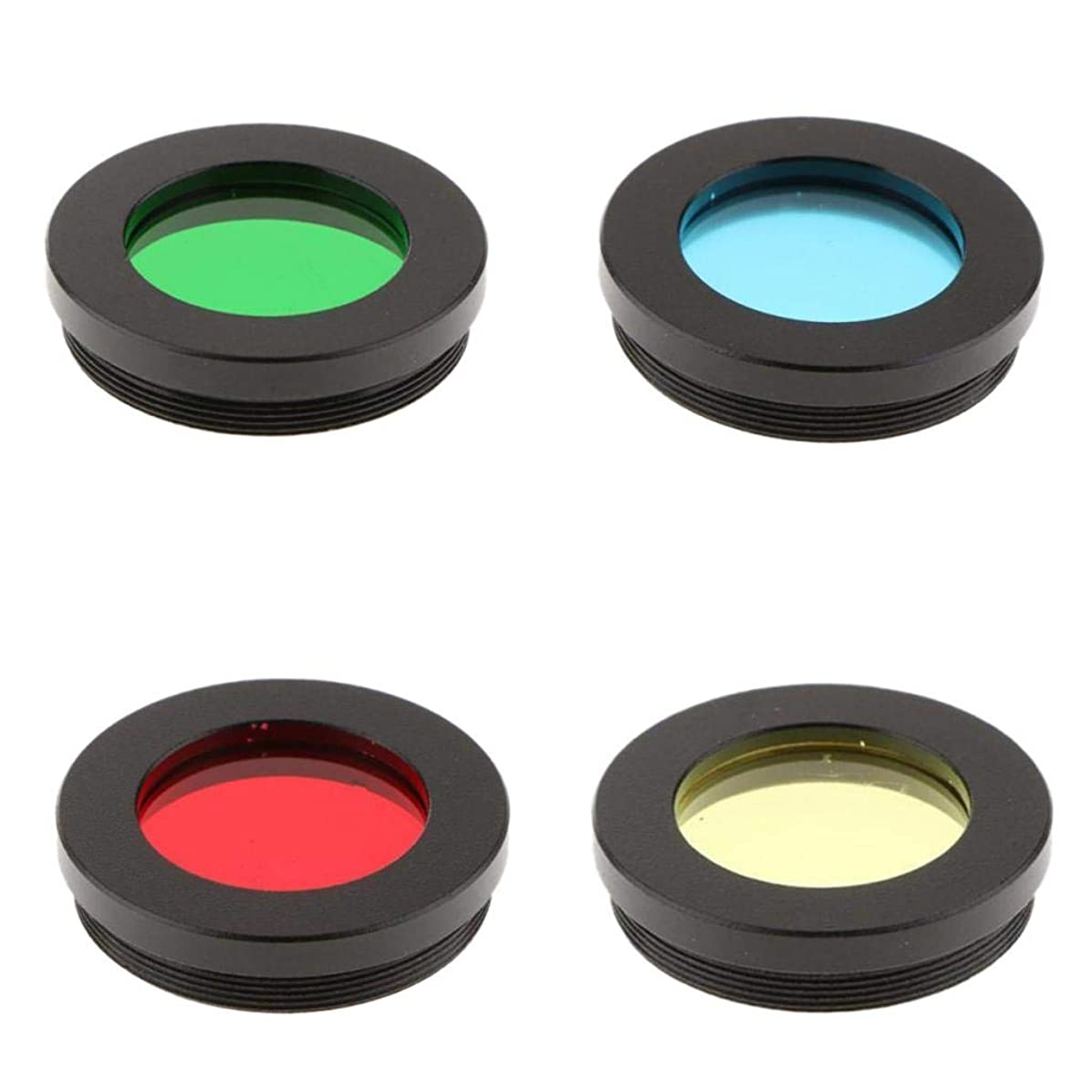 Baoblaze 4x Telescope Eyepiece Lens Color Filter Set 1.25'' Planet Jupiter, Mars, Saturn, Moon More Surface Detail