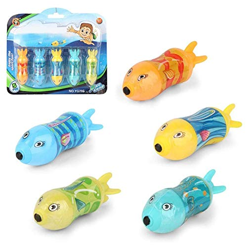 HXHAY Shark Diving Toy Swimming Pool Toys Dive Torpedo-Shark Underwater Gliders Toy for The Pool Bath Water Park Pool Diving Toys for Kids (Small Size-5pcs)