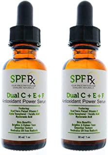 Summer Special! Dual C E Ferulic Acid Serum, an Antioxidant Power Serum with Potent Vitamin C, Alpha Tocopherol, Ferulic Acid, Hyaluronic Acid for Brighter, Calmer Tone, Smoother Texture, 1 oz 2 Pack