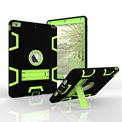 iPad Air Case, Fizze Three Layer PC & Silicon High Impact Hybrid Drop Proof Armour Defensive Full Body Protective Case With Kickstand for iPad Air/ iPad 5 (2013 Model)