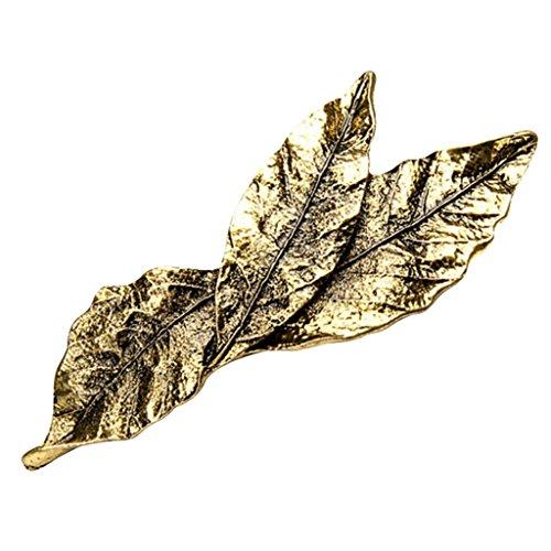 MagiDeal Mode Bohème 3 Feuille Forme en 1 Barrette À Cheveux Clip Barrette Antique Bronze/Argent Dame Cheveux Bijoux - Bronze Antique