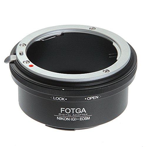 Adaptador de montura para objetivo Nikon G AF-S a Canon EF-M EOS M M1 M2 M3 M5 M6 M10 M50 M100