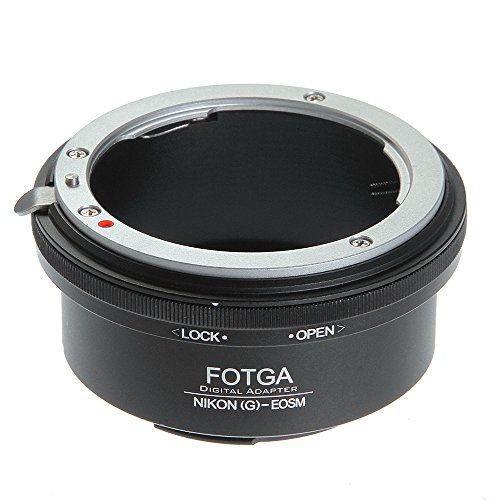 Adaptador de montura de objetivo para Nikon G AF-S, compatible con Canon EF-M EOS M M1 M2...