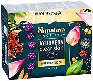 Himalaya Ayurveda Clear Skin Soap With Pure Ayurvedic Oil (Pack Of 4)
