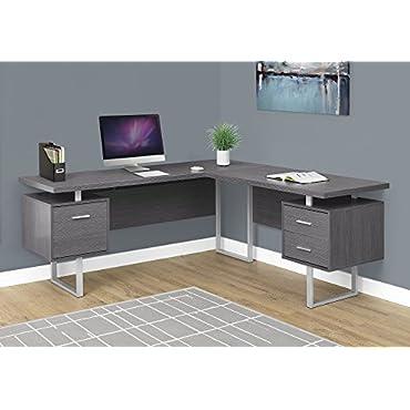 Monarch Specialties Computer Desk 70L / Grey Left or Right Facing