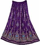 Dancers World Ltd Jupe à sequins pour femme Style indien hippie bohème TaillesM-L - multicolore -