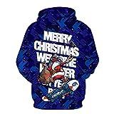 XDJSD Suéter para Hombre Talla Grande Suéter con Estampado Navideño para Hombre Chaqueta Navideña Camiseta De Manga Larga De Papá Noel para Hombre