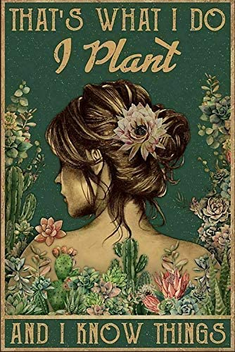 Succulent Girl That's What I Do Plant Max 61% OFF - No F Home Poster Wholesale Paper