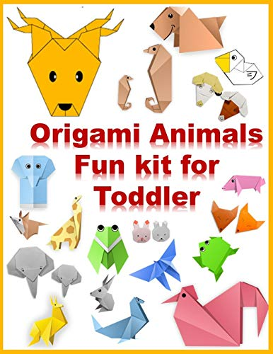 origami animals fun kit for toddler: Make a Complete Zoo of Origami Animals!: Kit with Origami Book, 120 Projects, 120 Origami Papers, 120 Stickers & Fold-Out Zoo Map