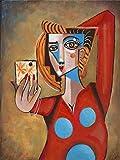 Picasso Poster KüNstler Artwork Wand Bilder Abstrakte Frau