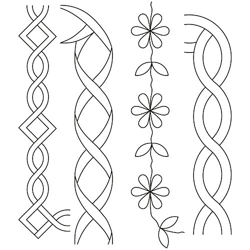Quilting Creations Cable Border Quilt Stencil 1 x 13