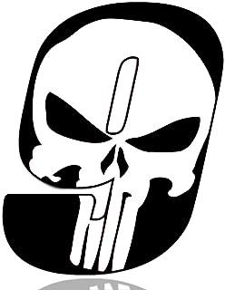 Adesivo Sticker Numero Racing 0 Gara Punisher Skull Cranio Rosso Auto Moto Cross Rally Sport Tuning N 350