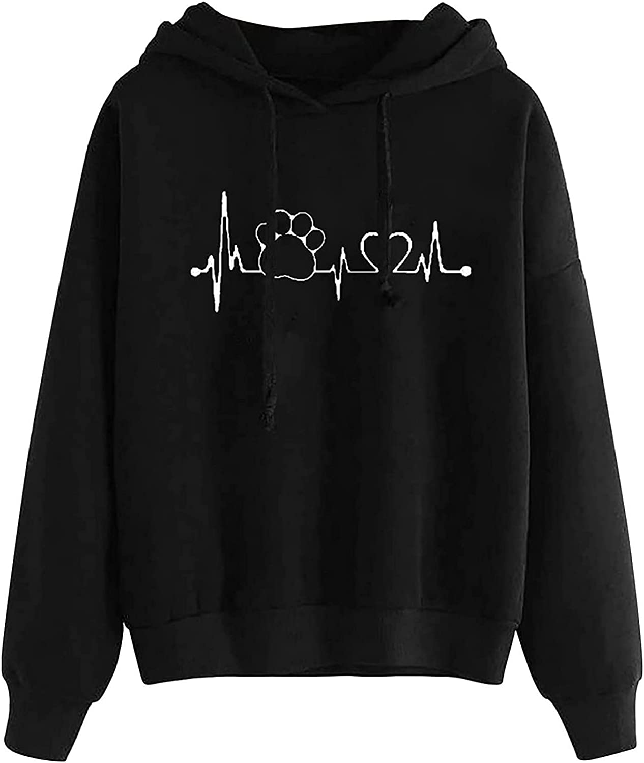 HIRIRI Pullover Hoodies for Women Printing Com Heart New lowest price Orleans Mall Lightweight