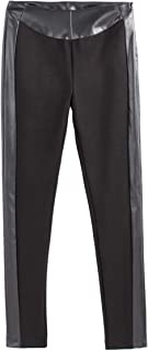 La Redoute Collections Womens Dual Fabric Leggings, Length 29.5