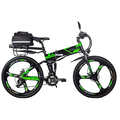 RICH BIT Bicicleta Eléctrica 250W Bicicleta Plegable de Montaña LG Li Batería...