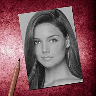 Katie Holmes - ACEO Sketch Card (Signed by The Artist) #js001
