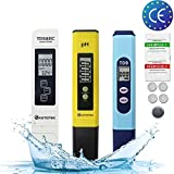 KETOTEK TDS&EC Meter TDS Medidor de pH Kits de Pluma Medidor de Calidad de Agua Digital 3 en 1 Sets ATC 0-14PH 0-9990PPM 0-9999μs/cm Medida Portátil Hidroponia PH TDS EC (PH+TDS+TDS&EC)