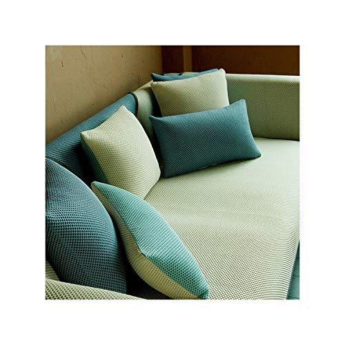 HGblossom Atmungsaktive Sofas Abdeckung Sofakissen Couchbezüge Für Wohnzimmer Ice Silk Anti Slip Kühlen Kissen Kissenbezug Kissen Gelb 80X80 cm