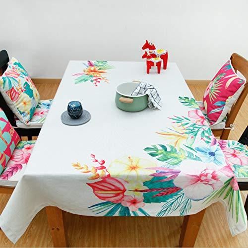 Aktives Bedrucken und Färben von Tischdecken aus Baumwolle und Leinen Gartentischdecke Couchtischdecke Nachttisch Staubtuch 140x140cm