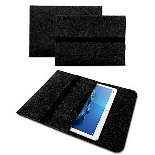 UC-Express Tablet Tasche Schutzhülle aus strapazierfähigem Filz mit praktischen Innentaschen Sleeve Hülle Tasche Cover Notebook Case, Farben:Dunkles Grau, Tablet Modell für:Medion Lifetab X10300