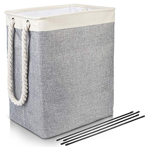 HIPPIH 65L Laundry Hamper Clothes Sorter, Large Foldable Baby Toy Storage Organizer with 2 Handles, Room Storage Bin Linen Collapsible Washing Laundry Basket for College Dorm Bathroom
