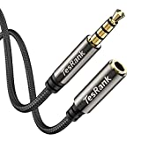 Cable Alargador Audio Extensión 1M 4 Pin,TesRank Nylon Cable Audio Estéreo 3,5 mm Macho a Hembra Cable para Móvil,Microfóno,Auriculares,MP3,Altavoces,TV,Ordenador,Coche,PS4,Xbox …