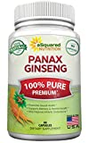 Natural Korean Panax Ginseng (1000mg Max Strength) - 90 Capsules Root Extract Complex (Red & White), High Dosage Ginsenosides in Seeds, Asian Powder Supplement, Tablet Pills for Sex & Mental Health