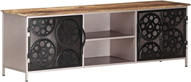 vidaXL Rough Mango Wood TV Cabinet Wooden Home Bedroom Living Room Entertainment Centre Rack Unit Stand Storage HiFi Stereo C