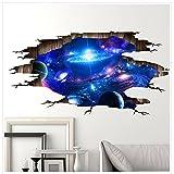 Stickers Galaxie 3D Stickers Muraux, Autocollant Murale Décoration pour Enfants Chambre...