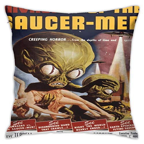 Invasion of The Saucer Men, Cult Classic Vintage Retro Horror Collection Pullov Pillowcases, Floor Pillowcases, Pillowcases, Sofa Cushions, Cushion Covers, Backrest Covers, Car Cushion Interiors