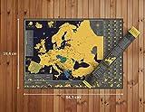 Mappa Europa da grattare - Splendida XXL mappa (poster murale) - Regalo ottimo per viaggiatori - 84,1 x 59,4 cm