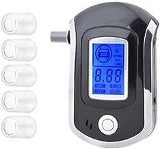 Kecheer Ethylotest Alcootest avec 5 Embouts Portable Electronique,Testeur d/'Alcool Num/érique avec Affichage LCD