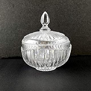 Crystal Glass Sugar Bowl Box with Lid
