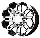 Vision Warrior 375 Gloss Black Wheel with Machined Face (18x8'/5x150mm)