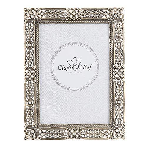 Clayre & Eef 2F0528L - Cornice per foto, 17 x 2 x 22 cm, 13 x 18 cm