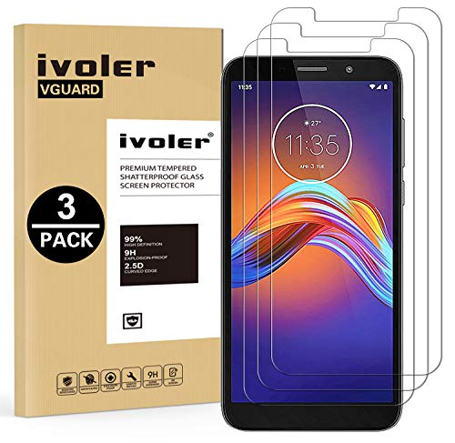 iVoler 3 Pezzi Pellicola Vetro Temperato per Motorola Moto E6 Play, Pellicola Protettiva Protezione per Schermo per Motorola Moto E6 Play