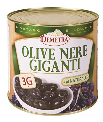 Olive neri giganti 3G naturale 2,5 kg - Demetra