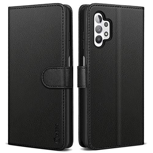 Samsung Galaxy A32 5G Case, Vakoo Wallet Series Flip Case with Card Holder Kickstand Phone Cover for Samsung Galaxy A32 5G (Black)