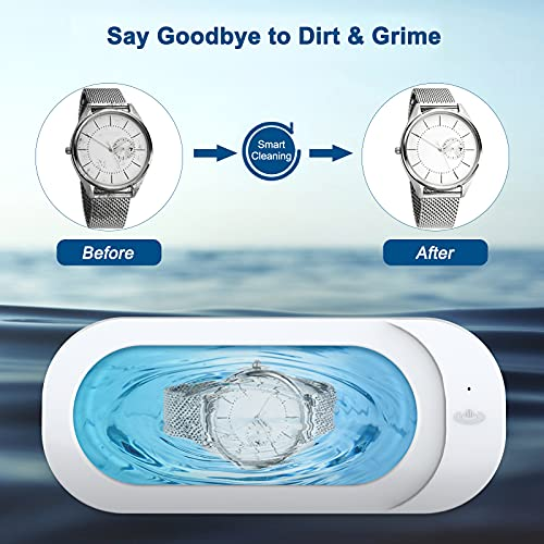 Ultrasonic Jewelry Cleaner, Portable Professional Ultrasonic Cleaner for Cleaning Jewelry Eyeglasses Watches Shaver Heads
