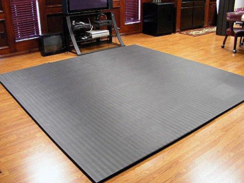 "10'x10'x1.25"" Dollamur Flexi-Connect® Martial Arts Tatami Mat (Charcoal Gray)"