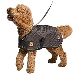 Ginger Ted Thermal Insulated Harness Quilted Dog Coat – Brown