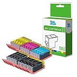 Compatibili con stampanti Canon Pixma iP7200, iP7250, iP8700, iP8750, iX6850, MG5450, MG5450S, MG5550, MG5600, MG5650, MG6350, MG6450, MG6600, MG6650, MG7150, MG7500, MG7550, MX725, MX920, MX925.