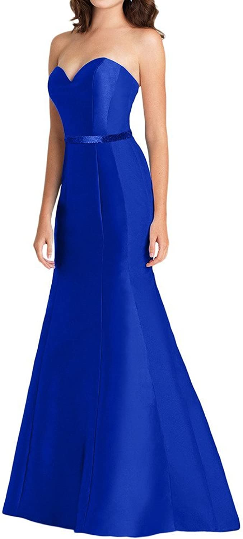 Avril Dress Mermaid Sweetheart Bow Satin Bridesmaid Evening Prom Dress Long Sash