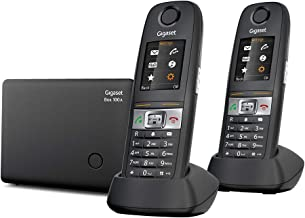 $169 » Gigaset E630A Duo – Durable Landline Phone with Answering Machine, 1 Additional Handset Included, Water Splash and Dust-Re...