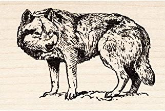 gray wolf rubber stamps