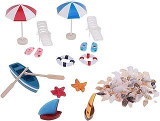 KODORIA Beach Style Miniature Ornament Kits for DIY Fairy Garden Dollhouse Decoration