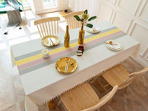 AMZERO Manteles Mesa Rectangular Antimanchas Mantel Rectangular de Antimanchas Antimanchas Impermeable para Mesa Rectangular de Comedor Cocina JardíN - A 110x110cm