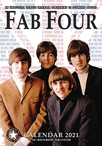 Close Up The Fab Four Kalender 2021 The Beatles Tributkalender - DIN A3, Wandkalender 2021, 12 Monate, original englische Ausführung.